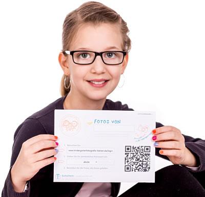 Kindergartenfotografie und Schulfotografie Kennwortkarte